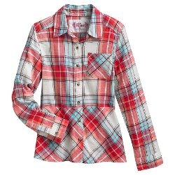Plaid Button-Front Shirt by Mudd in American Sniper