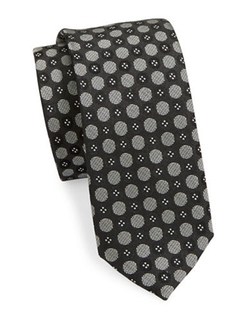 High-Contrast Dotted Silk Tie by Pure in Jessica Jones