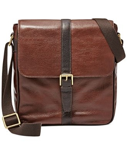 Estate Leather North-South City Bag by Fossil in San Andreas