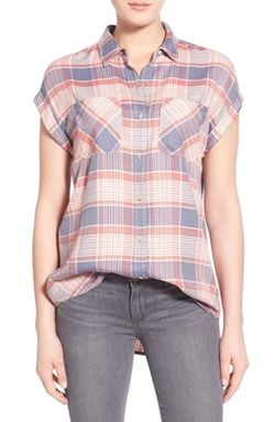 Drapey Plaid Shirt by Treasure&Bond in Mistresses