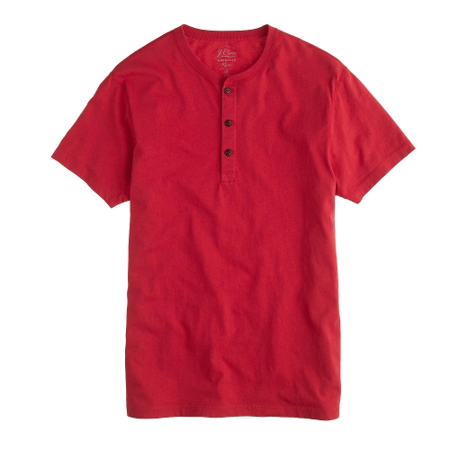 Slim Broken-In Short-Sleeve Henley Shirt by J.Crew in McFarland, USA