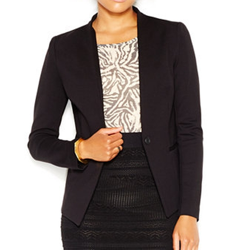Collarless Ponte Blazer by Rachel Rachel Roy in Mistresses - Season 4 Episode 3