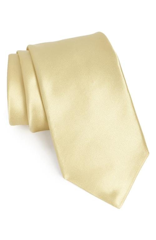 Solid Satin Silk Tie by Nordstrom in Get On Up