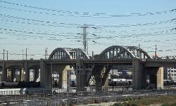 Los Angeles, California by Sixth Street Viaduct in The Purge: Anarchy