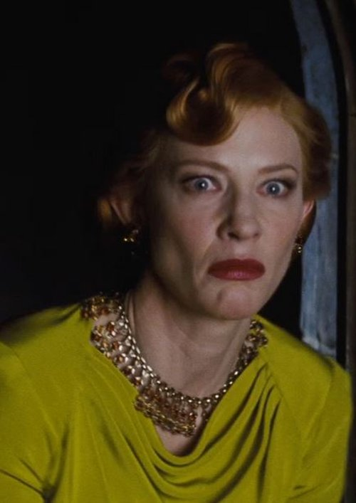 Custom Made Statement Necklace (Lady Tremaine) by Sandy Powell (Costume Designer) in Cinderella