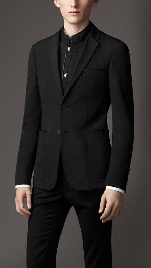 TECHNICAL COTTON BLAZER WITH QUILTED WARMER by Burberry in Vampire Academy
