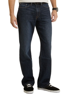 Stern Navy Relaxed Fit Jeans by Nautica in Straight Outta Compton