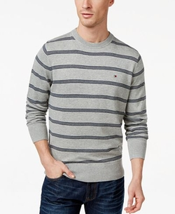 Crewneck Stripe Sweater by Tommy Hilfiger in Silicon Valley