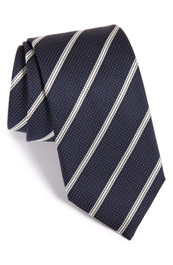 Stripe Silk Tie by Canali in Crazy, Stupid, Love.