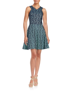 Floral Lace A-Lined Dress by Design Lab Lord & Taylor in The Girl on the Train
