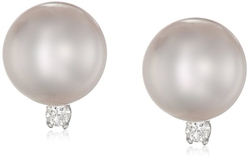 Natural Color Akoya Pearl Earrings by Tara Pearls in American Ultra