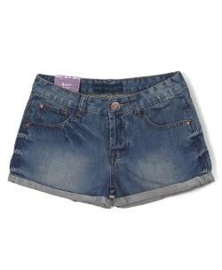 Washed Denim Shorts with Rolled up Cuffs by Chic Nova in Ride Along