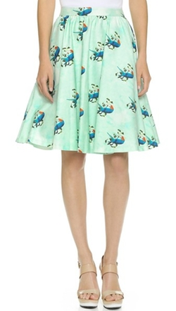 Earla High Waisted Skirt by Alice + Olivia in Black-ish