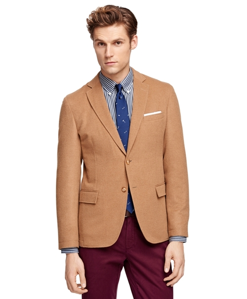 Wool And Camel Hair Sport Coat by Brooks Brothers in Demolition