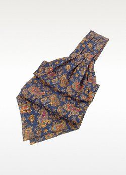 Paisley Print Twill Silk Ascot Tie by Forzieri in Hall Pass