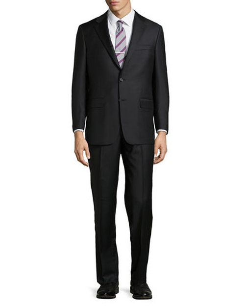 Solid Two-Button Two-Piece Suit by Hickey Freeman in Legend