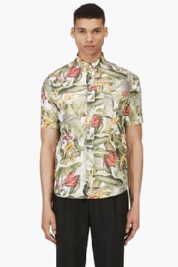 FLORAL PRINT BUTTON DOWN SHIRT by AMI in Brick Mansions
