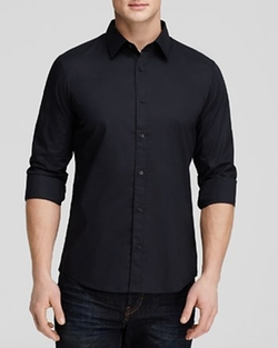 Stretch Cotton Button Down Shirt by Michael Kors in Straight Outta Compton