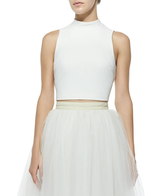 Avita Cropped Ponte Top by Elizabeth & James in Scream Queens - Season 1 Episode 10