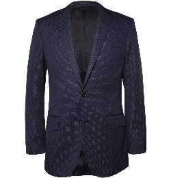 Ludlow Slim-Fit Stitched-Dot Cotton-Blend Suit Jacket by J.CREW in The Great Gatsby