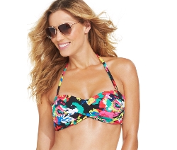 Floral-Print Bandeau Bikini Top by Anne Cole in No Escape