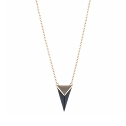 Pyramid Pendant Necklace by Alexis Bittar in Gypsy