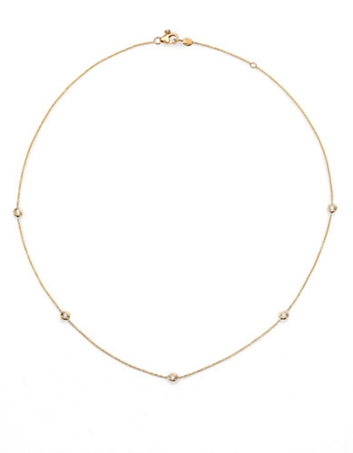 Diamond And Yellow Gold Station Necklace by Roberto Coin in Secret in Their Eyes