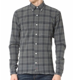 Plaid Flannel Button Down Shirt by Apolis in Criminal