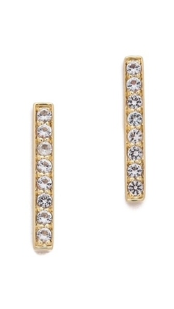 Braque Bar Stud Earrings by Elizabeth and James in Pretty Little Liars