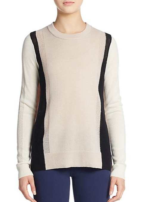 Colorblock Cashmere Sweater by Vince in How To Get Away With Murder - Season 2 Episode 9