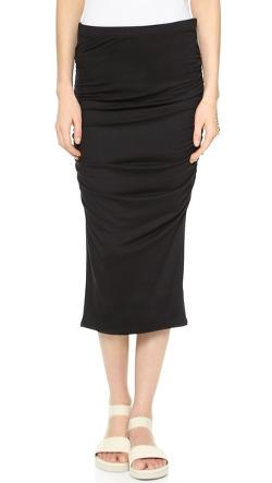Ruched Midi Skirt by Three Dots in Wish I Was Here