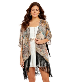 Printed Fringe Cardigan by Chelsea & Violet in Jem and the Holograms