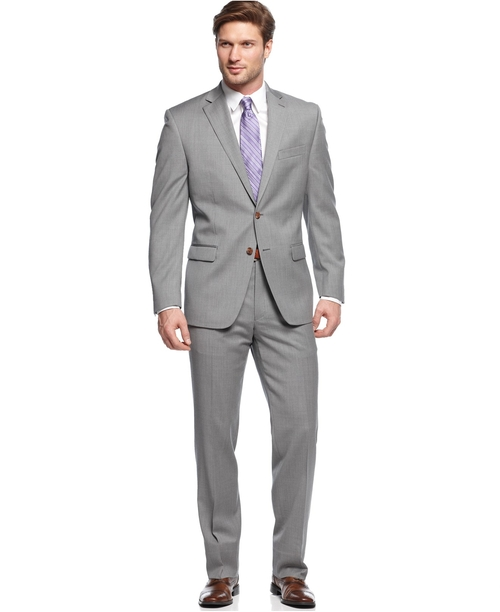 Suits in Light Grey Solid by Lauren by Ralph Lauren in Gone Girl