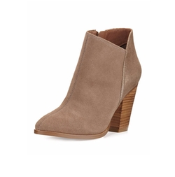 Savie Suede Chunky-Heel Booties by Donald J Pliner in A Bad Moms Christmas