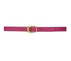 Reversible Saffiano Belt by Lauren Ralph Lauren in Supergirl