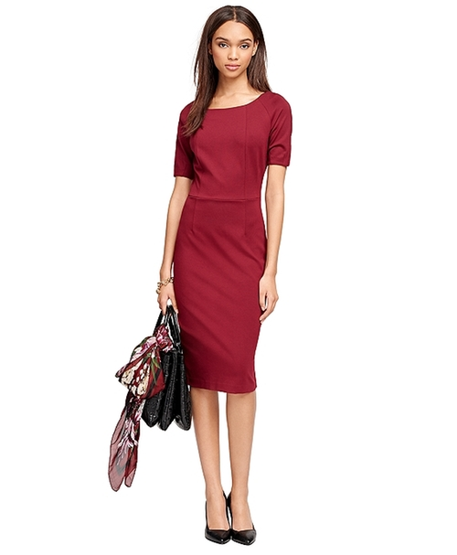 Ponte Knit Dress by Brooks Brothers in Scandal - Season 5 Episode 6