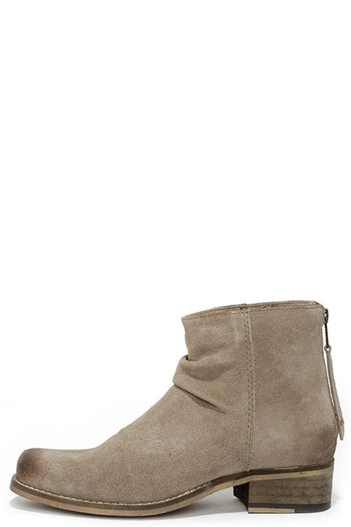 Sand Suede Leather Ankle Boots by Seychelles in Scout's Guide to the Zombie Apocalypse