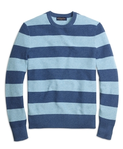 Cotton Cashmere Stripe Crewneck Sweater by Brooks Brothers in Scream Queens