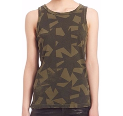 Cotton Star-Print Muscle Tee by Current/Elliott in Shadowhunters