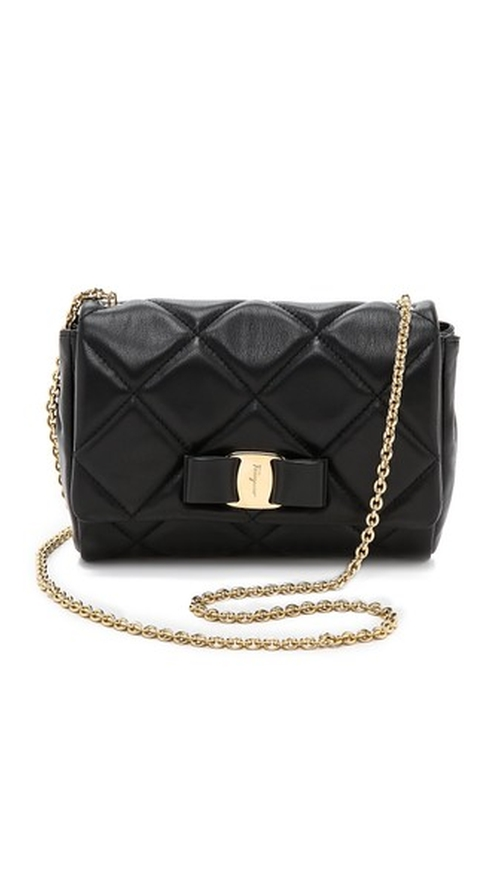 Soft Quilted Shoulder Bag by Salvatore Ferragamo in The Mindy Project - Season 4 Episode 11