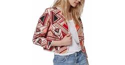 Geo Embroidered Jacquard Jacket by Topshop in Pretty Little Liars
