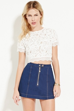 Textured Lace Crop by Forever 21 in The Flash
