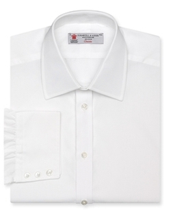 Solid Poplin Dress Shirt by Turnbull & Asser in Suits