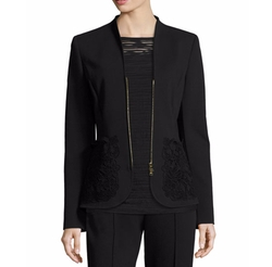 Lace-Pocket Zip-Front Jacket by Escada in Designated Survivor