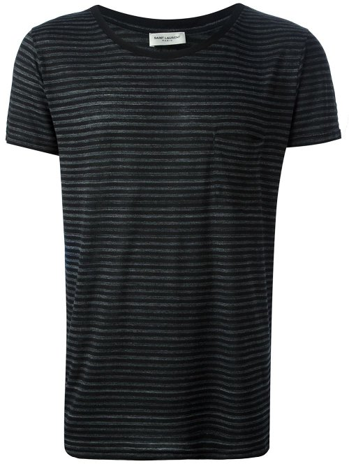 Striped T-Shirt by Saint Laurent in The American