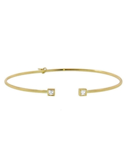 Yellow Gold Bellina Bangle Bracelet by Temple St. Clair in Ballers