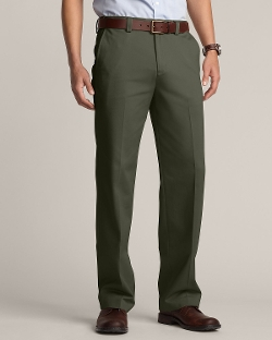 Flat Front Casual Performance Chino Pants by Eddie Bauer in Max