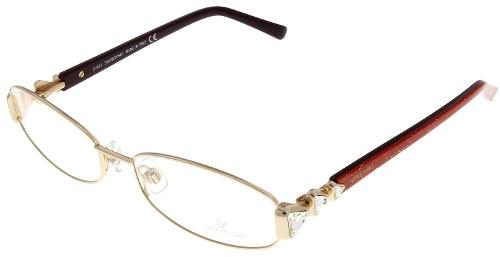 Angelina Oval Prescription Eyeglasses by Swarovski in Spy