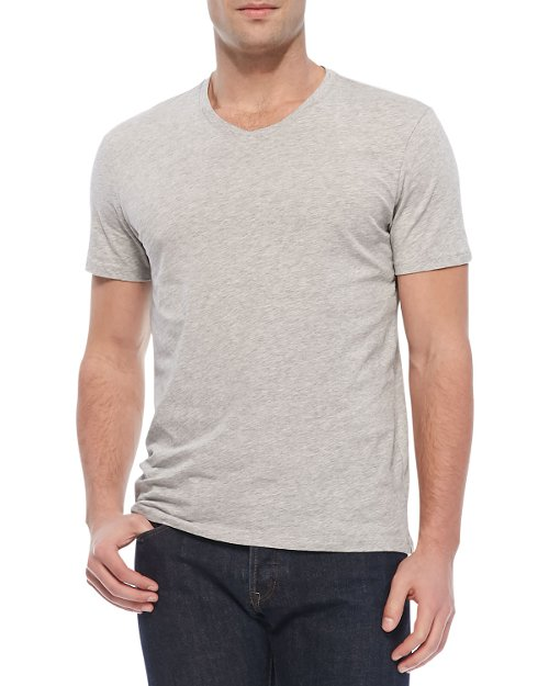 V-Neck Jersey Tee by Vince	 in The Best of Me
