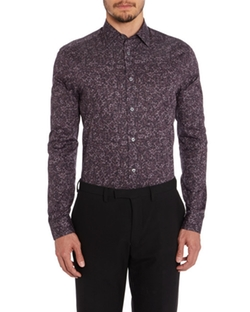 The Byard Stone Rose Purple Floral Shirt by Paul Smith in Jessica Jones